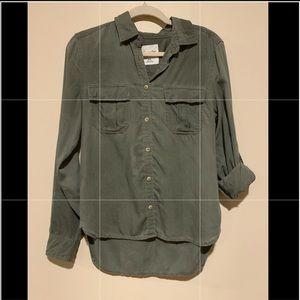 Button down cargo shirt